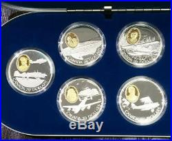 $1 Canadian 1 Oz. 925 Fine Silver $20 Silver Planes Canada Proof World Coin Lot