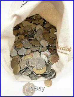 10 Pound Bag Mixed Bulk Lot Foreign World Coins Non US 10 LBS with Silver & Bag