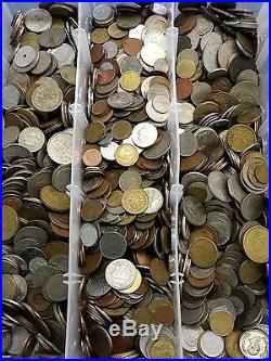 10 Pounds of Foreign World Coins 10LBS + Some Silver PLEASE READ DESCRIPTION