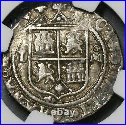 1542 NGC XF 40 Mexico 1 Real Carlos & Joanna Silver Reales Coin (19080501D)
