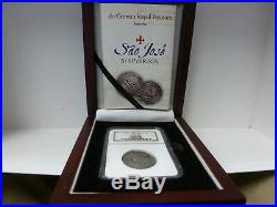 1556-1622 Spain 4r Sao Jose Genuine In Ngc Shipwreck Case With Deluxe Box