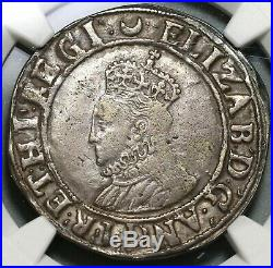 1587 Elizabeth I Shilling Great Britain Hammered Silver Coin NGC VF (19101502C)