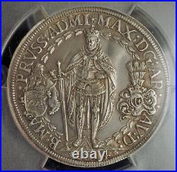 1614, Teutonic Order Knights, Maximilian III. Silver 2 Thaler Coin. PCGS XF+