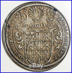 1629, Brandenburg-Ansbach, Frederick, Albert & Christian. Silver Thaler. NGC XF+