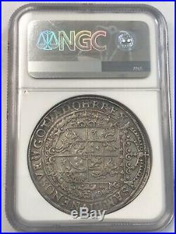 1632 II Poland Taler NGC AU Details Cleaned Rare Silver Coin