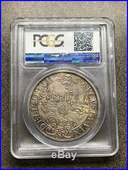 1641, Augsburg Coin Ferdinand III. Silver City-View Thaler. PCGS MS62 RARE