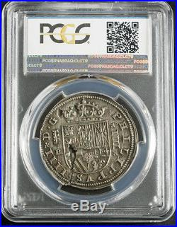 1660, Spain, Philip IV. Rare Milled Silver 4 Reales Coin. Segovia mint! PCGS AU+