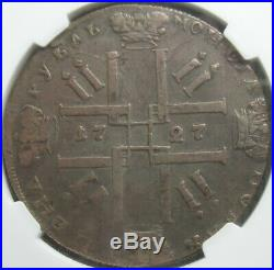 1727 CNB Peter II Russia 1 Rouble NGC VF-Details