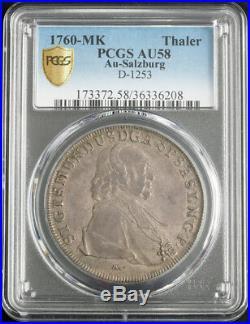 1760, Salzburg, Sigismund III v. Schrattenbach. Silver Thaler Coin. PCGS AU-58