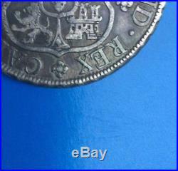 1763 Mexico 8 Reales Carolus III 8r Mf Silver Pillar Dollar Gorgeous Toned