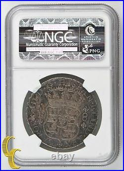 1766MO MF Mexico 8 Reales 8R Graded AU50 By NGC KM#105