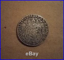 1768 8 reales pillar dollar