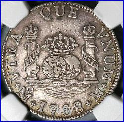 1768 NGC XF 40 Mexico 2 Reales Charles III Pillars Globes Silver Coin 20092402C