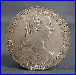 1780 Austria-Hungary Maria Theresia Silver Thaler Silber Taler Coin EthiopiaRRR