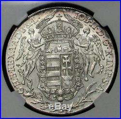 1783 B Silver Hungary Thaler Madonna And Child Ngc Mint State 62 Davenport# 1168