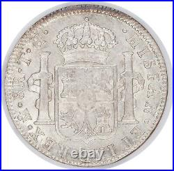 1808/7 Mexico 8 Reales NGC AU58 Lustrous Over-Date Variety