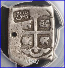 1815, Indonesia, Madura Island. Silver ½ Real Batu (4 Reales Cob) / VOC! PCGS VG