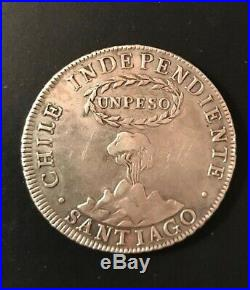 1817 Chile Peso Independiente / Chile Silver Crown