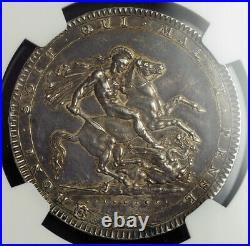 1820, Great Britain, George III. Silver Crown (British Dollar) Coin. NGC AU-58