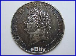 1821 Ceylon One Rix Dollar Georgius IV British Colonial Silver