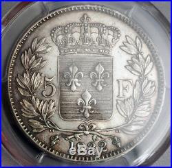 1832, France, Henry V. Silver 5 Francs Coin. Pretender Coinage! PCGS SP-55