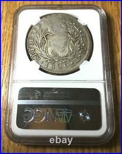 1837 Philippines countermark on 1836 Peru 8 reales silver crown counterstamp NGC