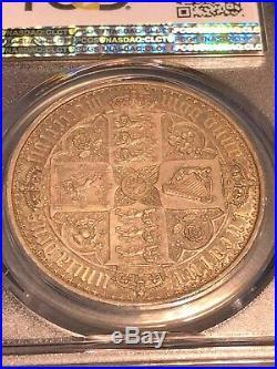 1847 Great Britain Victoria Gothic Crown PCGS PR65+ CAMEO