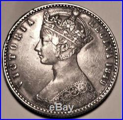 1849 Queen Victoria Full Silver Godless Florin