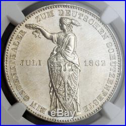 1862, Frankfurt (Free City). Silver Shooting Festival Thaler Coin. NGC MS-62