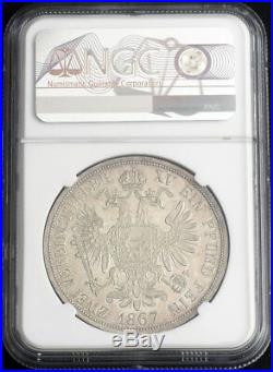 1867, Austria, Franz Josef I. Silver 2 Thaler (Doppeltaler) Coin. R! NGC MS-61