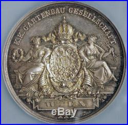 1881, Austria, Vienna. Silver Imperial Horticulture Society Medal. NGC MS-65