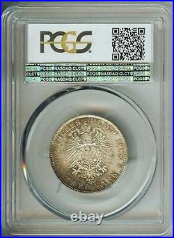 1888-A German States Prussia 2 Mark Silver Coin Friedrich J-98 PCGS MS 66+
