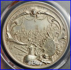 1897, Germany, Nuremberg (City). Large Silver Shooting Thaler Medal. PCGS AU-58