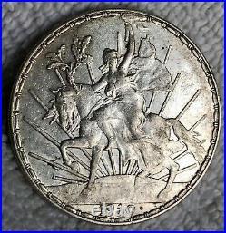 1910 Mexico El Caballito 1910 Silver
