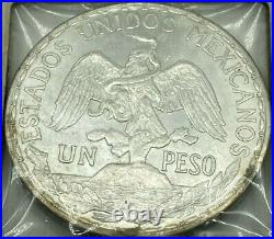 1912 Mexico 1 peso Independence Liberty Woman on Horse Silver Coin