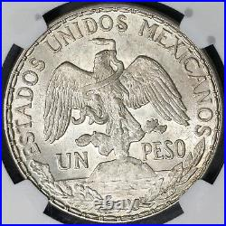 1913 NGC MS 63 Mexico Peso Mint State Caballito Horse Silver Coin (18120601C)