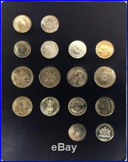 1968 -1970 Silver Fao Money 16 Coin Food & Agriculture World Food Day Set #2