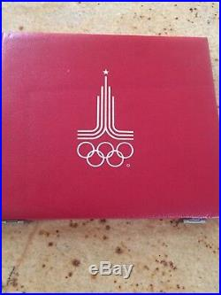 1980 Moscow Olympic 28 Silver Coin Proof Set WithBox & COA $199 Start NR BIN $435