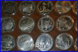 1980 Moscow Olympics 28 Silver coin set USSR 5 Rubles 14 DESIGNS 2 EA. PROOF/UNC