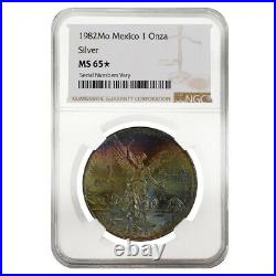 1982 1 oz Silver Mexican Libertad NGC MS 65