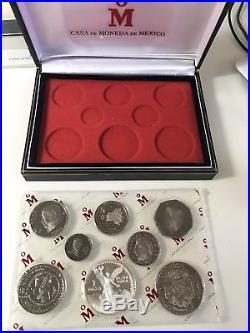 1982-1983 Mexico 8-Coin Libertad Silver Proof Set with COA RARE