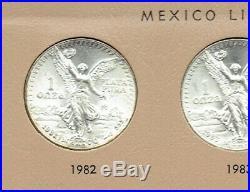 1982-2019 MEXICAN LIBERTADS Complete Collection 1oz. 0.999 Fine Silver GEM BU