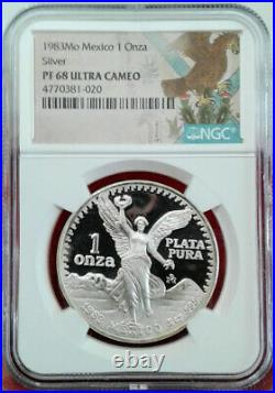 1983 Mexico 1 oz Silver Libertad coin PROOF MS-68 (RARE)