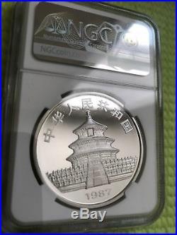 1987 China 10 Yuan 1 oz Silver Panda NGC PF-68 Ultra Cameo