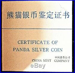 1987 China 10 Yuan Proof Silver Panda Coin NGC/NCS PF69 Ultra Cameo With Box & COA