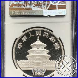 1989 P NGC PF 69 Ultra Cameo China 10 Yuan Panda 1 oz Silver Proof Coin