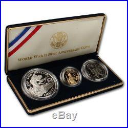 1993 US World War II 50th Anniversary 3-Coin Commemorative Proof Set