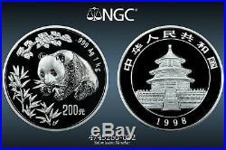 1998 China 300 Yuan Kilo Silver Panda Coin NGC/NCS PF69 Ultra Cameo Very Rare