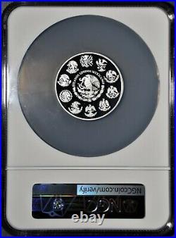 1999-Mo MEXICO 2 Oz, SILVER PROOF LIBERTAD, 280 MINTAGE, NGC PF69 ULTRA CAMEO