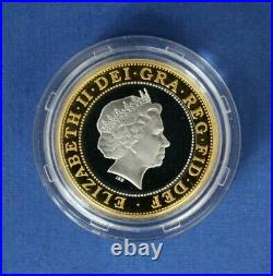 1999 Silver Piedfort Proof £2 coin Rugby World Cup in Case with COA